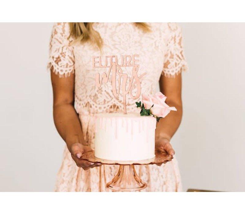 Future Mrs Cake Topper, Wood