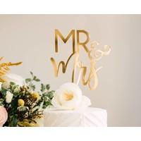 Blushing Mr & Mrs Cake Topper, Acrylic