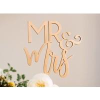 Blushing Mr & Mrs Cake Topper, Wood