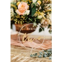 Acrylic Table Number, Round