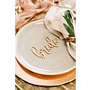 HAPPILY EVER ETCHED Blushing Bride & Groom Place Cards, Wood