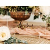 HAPPILY EVER ETCHED Acrylic Table Number, Horizontal
