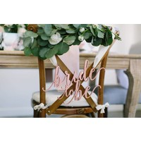 Feminine Bride to Be Chair Sign, Wood