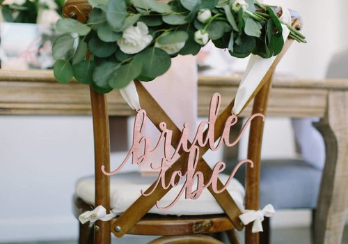 HAPPILY EVER ETCHED Feminine Bride to Be Chair Sign, Wood