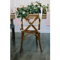 Feminine Almost Mrs Chair Sign, Wood