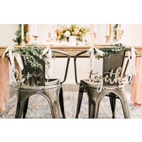 Blushing Better Together Chair Signs, Acrylic