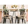 HAPPILY EVER ETCHED Trendy Wifey & Hubby Chair Signs, Wood