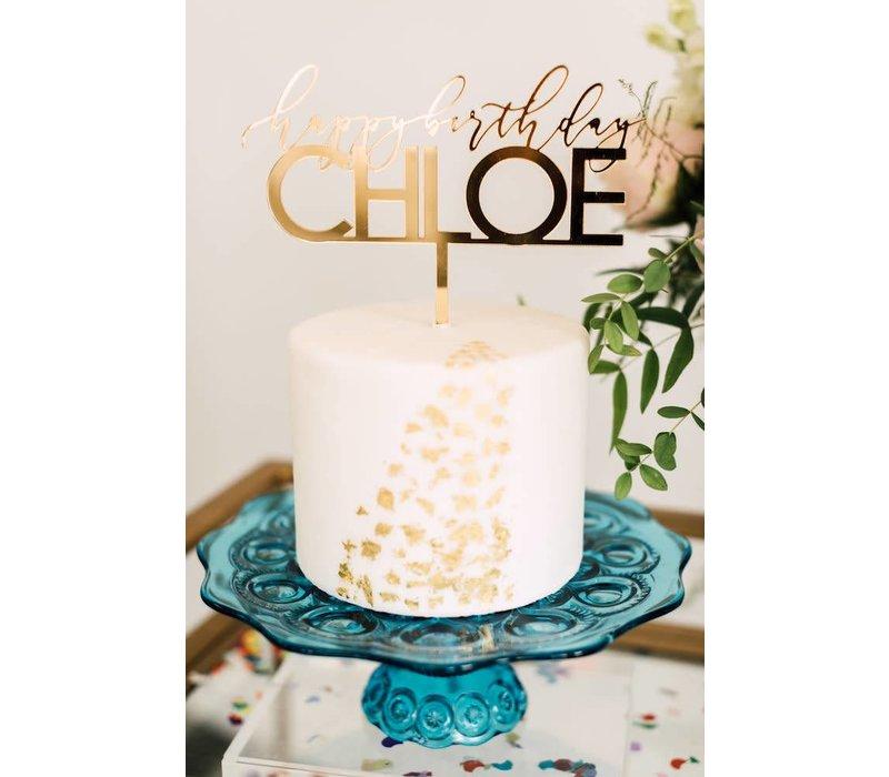 """8"""" Custom Elegant Birthday Cake Topper, Acrylic"""