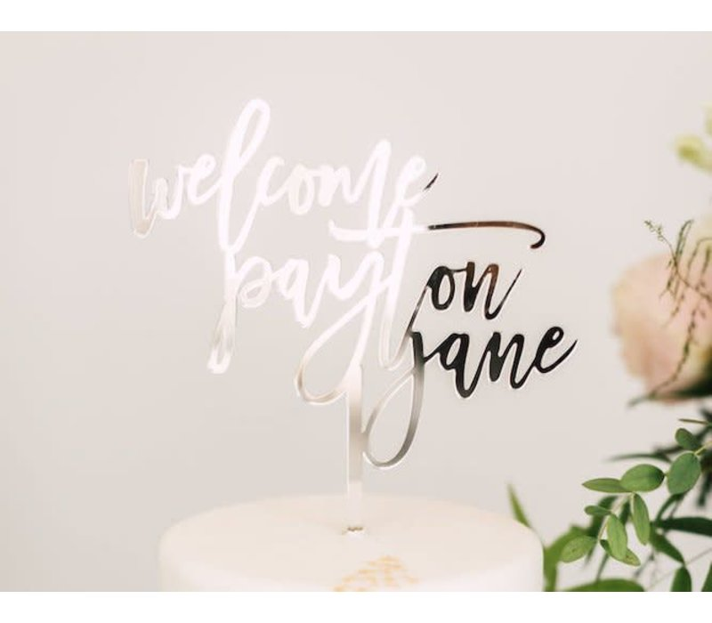 "7"" Custom Welcome Baby Cake Topper, Acrylic"