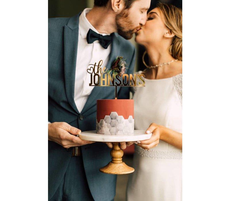 "8"" Custom Bold Wedding Cake Topper, Acrylic"