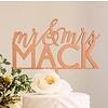 "HAPPILY EVER ETCHED 8"" Custom Feminine Wedding Cake Topper, Wood"