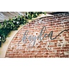 """HAPPILY EVER ETCHED 30"""" Custom Name Sign, Wood"""