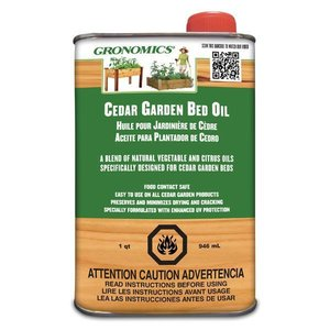 Home and Garden Gronomics Cedar Garden Bed Oil - 1 qt