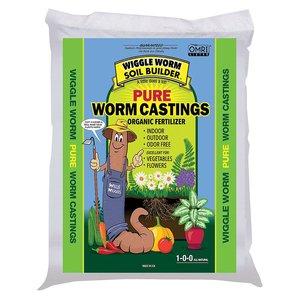 Organic Gardening Worm Castings 1-0-0;4.5lb