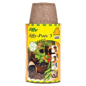 Containers Jiffy Round Peat Pot 10 pack - 3 inch