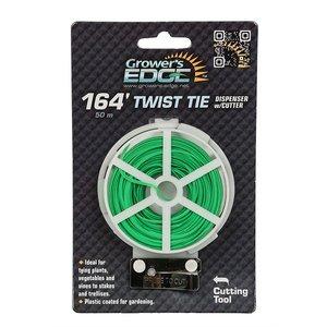 Garden Tools Twist Tie Dispenser w/cutter - 164 feet