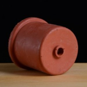 Beer and Wine Red Rubber Carboy Cap - 50 mm w/Single Hole