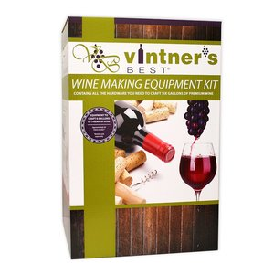 Beer and Wine Intermediate Wine Equipment Kit with Double Lever Corker