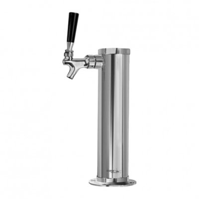 Beer and Wine Single Faucet Chrome Tower