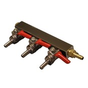 Beer and Wine Co2 Gas Manifold, 3 Way