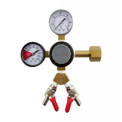 Beer and Wine TapRite Dual Guage Regulator - Two Shut offs