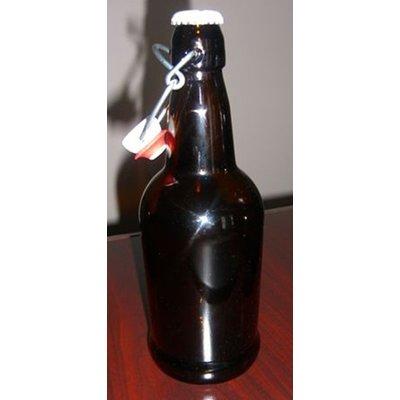 Beer and Wine Amber EZ Cap 16 oz Bottles - 12/case