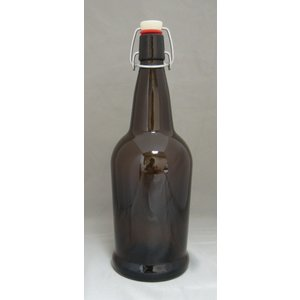 Beer and Wine Amber EZ Cap 1 L Bottles - 12/case