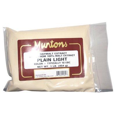 Beer and Wine Muntons Plain Light DME; 1 lb