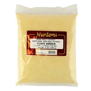 Beer and Wine Muntons Plain Amber DME; 3 lb