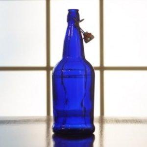 Beer and Wine Blue EZ Cap 1 L Bottles - 12/case