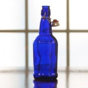 Beer and Wine Blue EZ Cap 16 oz Bottles - 12/case