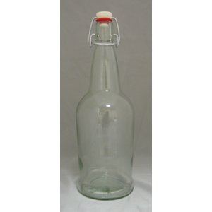 Beer and Wine Clear EZ Cap 1 L Bottles - 12/case