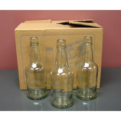 Beer and Wine Clear EZ Cap 16 oz Bottles - 12/case