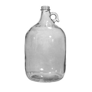 Beer and Wine Clear Glass Jug-1 Gal; Case of 4