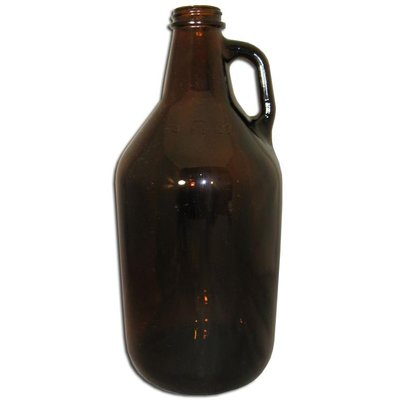 Beer and Wine Amber Growler (Jug)-1/2 gal