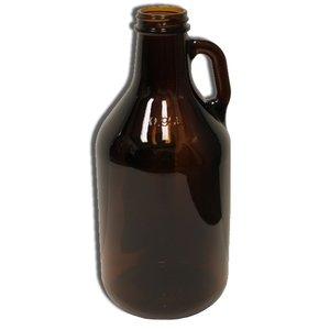 Beer and Wine Amber Growler (Jug), 1/4 gal