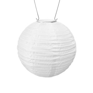 Home and Garden Original Soji Lantern - White w/Amber Light