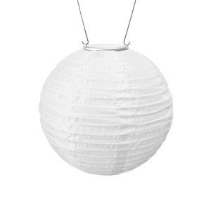 Yard and Garden Art Original Soji Lantern - White w/Amber Light