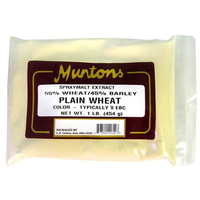 Beer and Wine Muntons Plain Wheat DME; 1 lb
