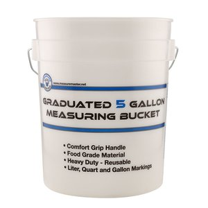 Indoor Gardening Measure Master Graduated Measuring Bucket - 5 gallon
