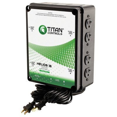 Indoor Gardening Titan Helios 8- 8 Light 240V Controller w/ Dual Trigger Cords