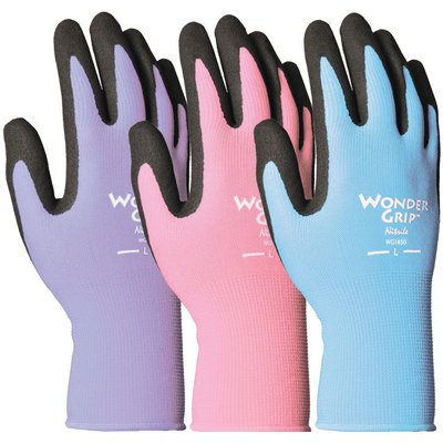 Outdoor Gardening Wonder Grip Nearly Naked Nitrile Palm Glove - Small