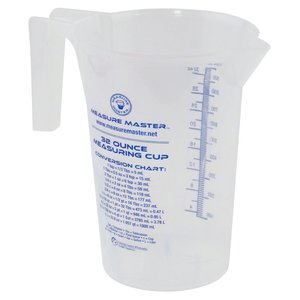 Containers Measure Master Graduated Round Container - 32oz / 1000ml