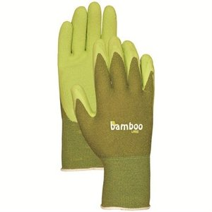 Outdoor Gardening Bamboo Rubber Gloves