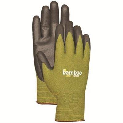 Outdoor Gardening Bamboo Nitrile Gloves