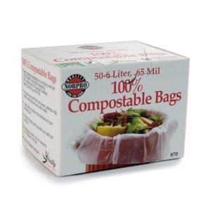 Organic Gardening Biodegradable Compost Bin Bags - 50 count