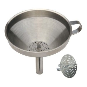 Urban DIY Stainless Funnel w/ Detach Strainer-5.5""