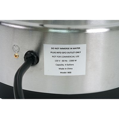 Beer and Wine Brewer's Edge Sparge Water Heater