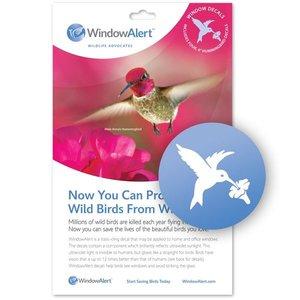 Yard and Garden Art Window Alert Hummingbird Decals