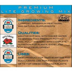 Organic Gardening McEnroe Premium Lite Mix-  1/20 cy